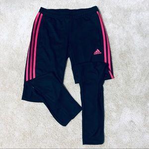 Adidas pink strips pants
